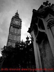 Big Ben : vue plongeante sur la tour du Parlement - Londres, Angleterre