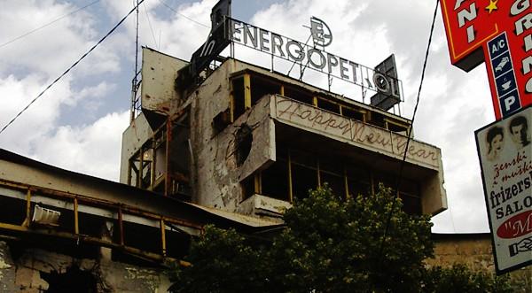Photo couleur du centre ville de Mostar, Bosnie Herzégovine