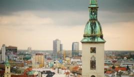 Photo couleur d'une église à Bratislava, Slovaquie