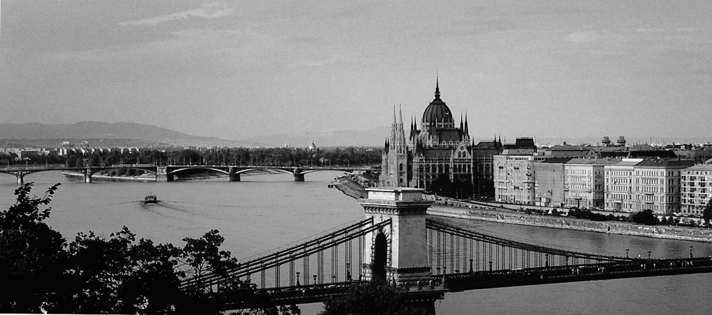 Photo noir et blanc de Budapest - Hongrie