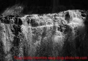 Gros plan du saut de l'Eventail - Cascades du Hérisson, Jura