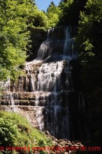 La Cascade de l'Eventail, la première des Cascades du Hérisson - Jura