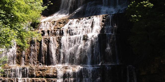 Cascades du hérisson - cascade de l'éventail (Jura)