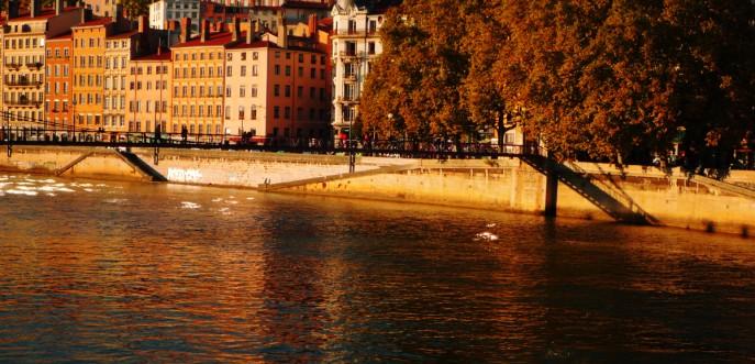 Photo couleur des quais de Saône / Croix-Rousse, Lyon