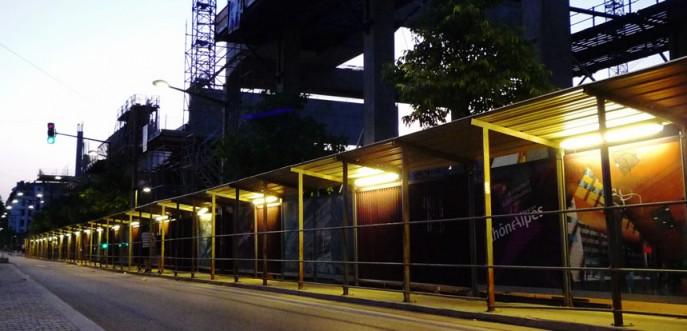 Photo couleur construction du quartier Confluences - Lyon