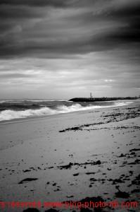 Costa Nova, la côte et l'océan Atlantique Portugal
