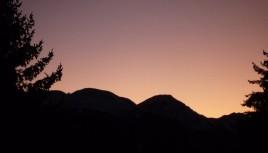 Photo couleur coucher de soleil les Arcs, Savoie