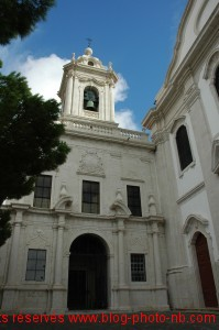 Eglise à côté du Castelo de São Jorge - Lisbonne, Portugal