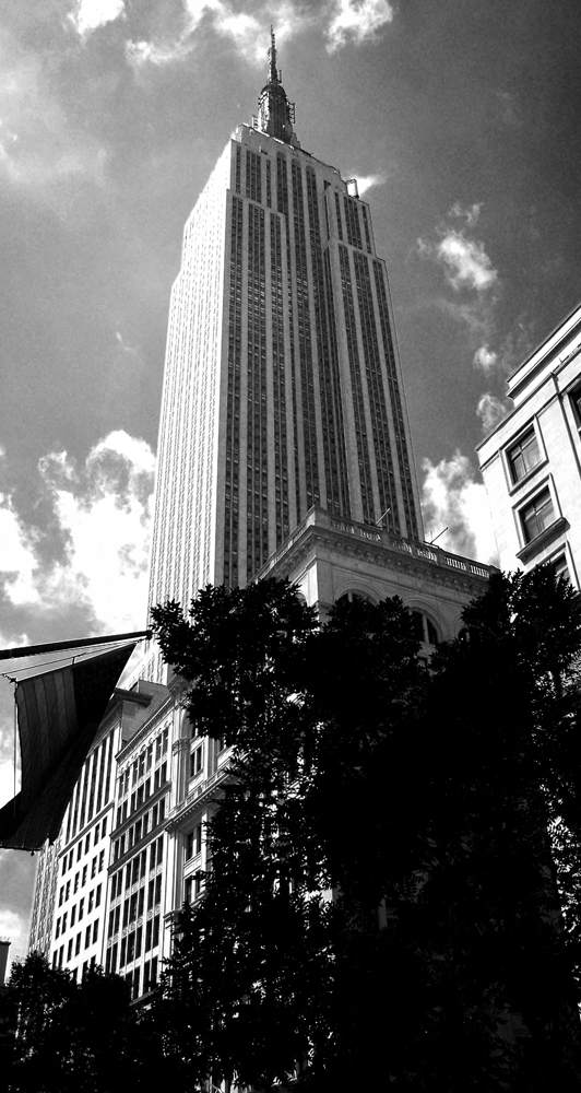 Photo noir et blanc de l'Empire State Building, New York City