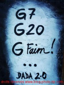 G7, g20, G faim ! La crise tagguée par Dada 2.0
