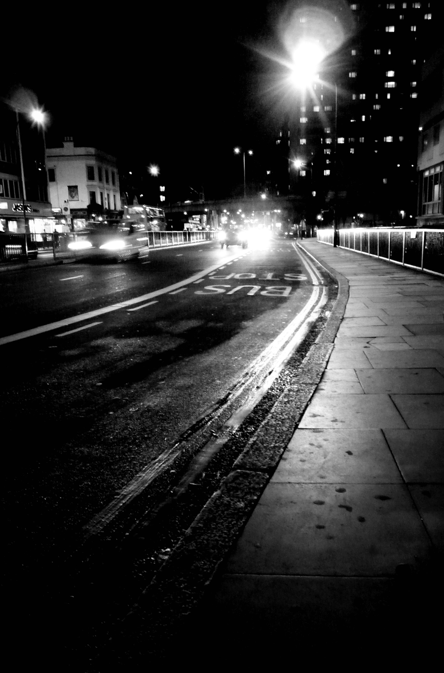 Photo noir et blanc de Londres la nuit, UK