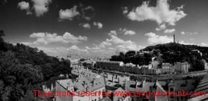 Lyon vu depuis Croix Rousse : de Fourvière à la Tour de la Part dieu