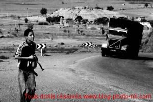 Maroc : sur la nationale 9, de Ouarzazate vers Marrakeck