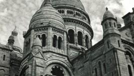 Photo noir et blanc du Sacré Coeur de Montmartre, Paris