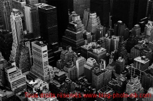 Les toits de New-York - vue depuis l'Empire State Building, Manhattan