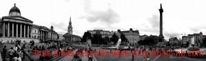 Panoramique à 180° de Trafalgar Square - Londres, Angleterre