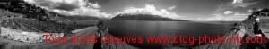 Vue panoramique du lac Léman : vue sur entre Evian et Thonon les Bains - Suisse