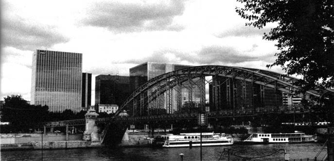 Photo noir et blanc de Paris Austerlitz
