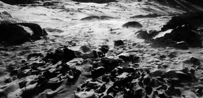 Photo noir et blanc de montagne aux 2 Alpes, Savoie
