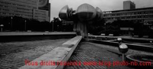 Place à l'architecture très soviétique - Bratislava, Slovaquie