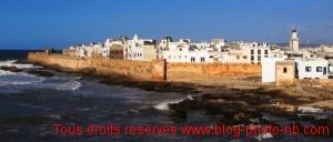 La vieille ville d'Essaouira (ex Mogaor), vue dpuis le port - Maroc