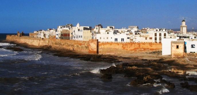 Photo couleur le port d'Essaouira, Maroc