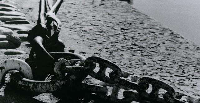 Photo noir et blanc des quais du Rhône à Guillotière, Lyon