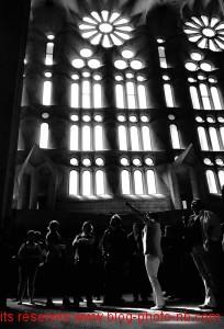 Tournés vers le ciel - église de la Sagrada Familia, Barcelone