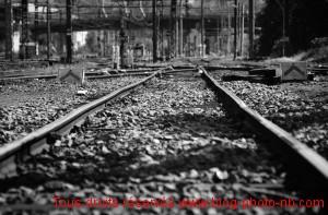 Voie ferrée vers la gare de Vaise -Lyon (69)