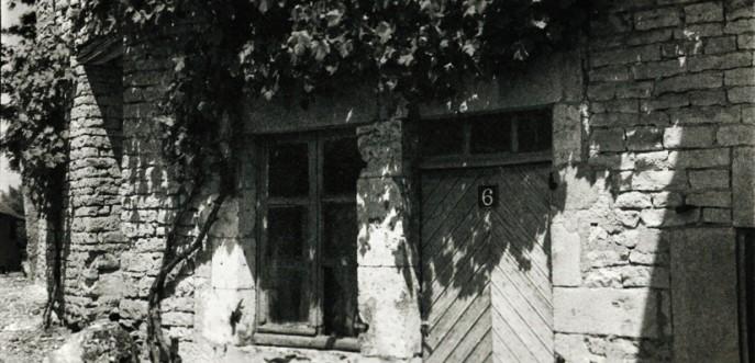 Photo noir et blanc ferme ancienne, Haute Saône