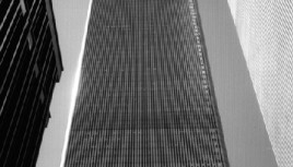 Photo noir et blanc du World Trade Center, New-York